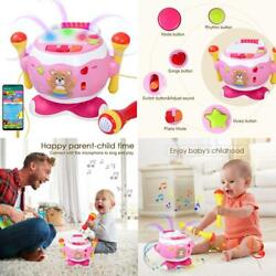 Rabing Baby Musical Drum Toys 5 In 1 Toddler Musical Instruments Toy With Micro $32.99