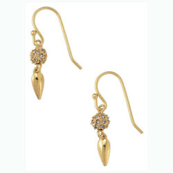 Stella amp; Dot Gold Renegade Mini Drop Earrings in Box $21.00