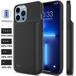 For iPhone 12 Pro Max Mini 11 SE2 External Battery Charger Case Power Bank Cover $28.95