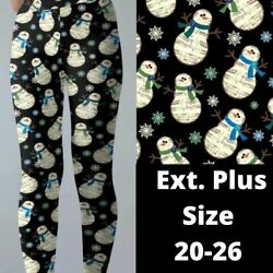 Caroling Music Snowman Christmas Holiday Women#x27;s Leggings TC2 Ex Plus Size 20 26 $22.00