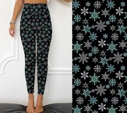 Snowflakes Christmas Holiday Women#x27;s Leggings TC2 Extra Plus Size 20 26 $22.00