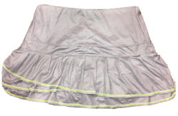 Lucky in Love L Large 12 Tennis Skirt Silver Micro Checked Tiered Skort Green $29.99