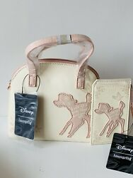 Loungefly Disney Bambi Small Mini Dome Crossbody And Matching Cardholder $64.95