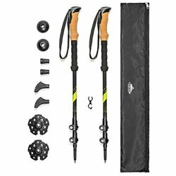 Cascade Mountain Tech Trekking Poles Carbon Fiber Walking or Hiking Sticks ... $61.85