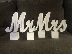 quot;Mr amp; Mrsquot; Classic White Wooden Sign $8.00