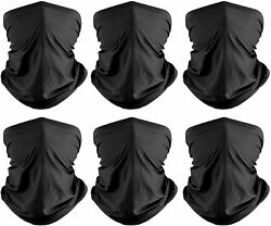Neck Gaiter6 Pack Face Bandana Cool Sun UV Protection Breathable Cover Tube $21.99