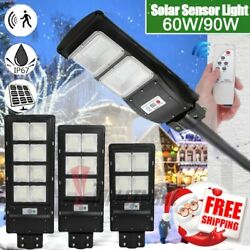 990000LM Commercial Outdoor PIR Solar Street Light Dusk to Dawn LampPoleRemote