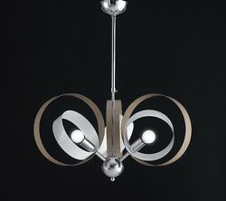 Hanging Modern Chandelier Chrome Circles Colorful Colors Combined $108.78