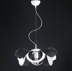 Hanging Modern Chandelier Effect Wood Chrome Circle Colors $156.98