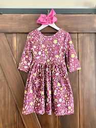 Spring Blooms Floral Boutique Dress WITH POCKETS NWT FREE Bow All Sizes $16.99