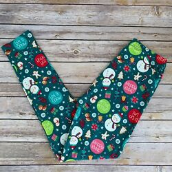 Snowman Holly Christmas Tree Holiday Women#x27;s Leggings Extra Plus Size TC2 18 24 $11.99