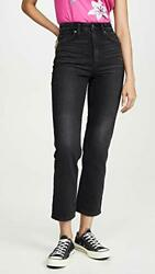 Lee Vintage Modern Women#x27;s High Rise Straight Leg Ankle Jeans Washed Black 30 $59.00