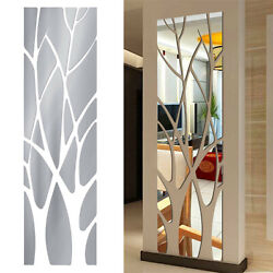 Modern Tree Mirror Decal Art Mural Wall Stickers Removable DIY Home Decorations