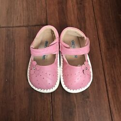 Infant Baby Toddler Girls High Quality Sheep Leather Pink Flower Shoe Size 6 7 8 $14.99