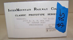 O SCALE INTERMOUNTAIN 40#x27; BOXCAR KIT UNDEC UNDECORATED UNLETTERED $25.00