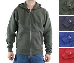 Champion Men#x27;s Fleece Jacket Hoodie Long Sleeve Double Dry Eco Full Zip Hood $19.99