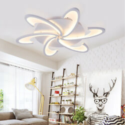 NEW Modern Acrylic Ceiling Lamp LED Chandelier Bedroom Room Ceiling Light Remote $73.15