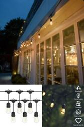 LED Commercial String Lights Bulbs 96 FT Outdoor Waterproof Clear Warm Decor