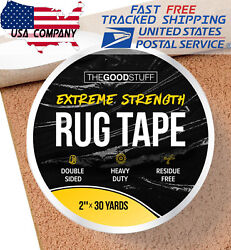 Heavy Duty Double Sided Tape for Hardwood Floors Carpet Concrete Walls 2quot;x75ft $13.45