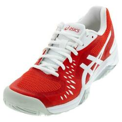 Asics Women`s GEL Challenger 12 Tennis Shoes Fiery Red and White $84.95