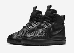 Mens Nike Lunar Force Duck Boot Black High Size 8.5 NEW 916682 002 Snow Winter $129.97