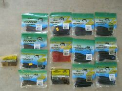 Lot of 14 packs of Yamamoto fishing worms NEW $79.99