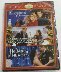 New HALLMARK HOLIDAY COLLECTION DVD Triple Feature Holiday For Heroes Ships Fast $23.97