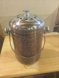 Old Dutch Hammered Ant. Copper Countertop Composter $39.95