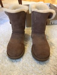 Brown Women's UGG Bailey Button Boots Size 7 with Box Winter Boots Cozy Boots $64.99