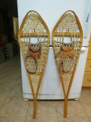 vintage snowshoes complete 12 x 42 mfg by gros louis nice # 3377 $59.99
