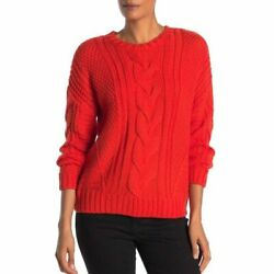 New One A Nordstrom Cable Knit Sweater Red Green White XS Small Large Chunky $19.99
