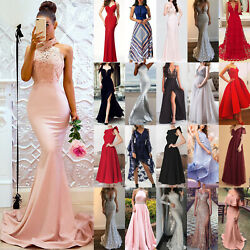 Women#x27;s Formal Prom Ball Gown Evening Party Cocktail Wedding Long Maxi Dresses $45.09