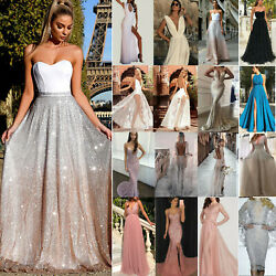 Women Formal Wedding Cocktail Party Evening Ball Gown Prom Bridesmaid Maxi Dress $17.99