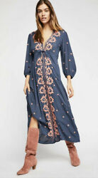 Free People Dresses Free People Embroidered Maxi Dress Women#x27;s SIZE S $59.99