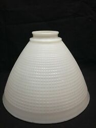 Vintage Milk Glass Globe Torchiere Floor Lamp Shade Waffle Pattern 7 7 8quot; 3 $18.00