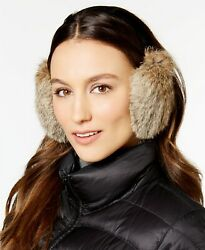 Surell Rabbit Fur Earmuffs Velvet Headband Brown with Black Headband $24.49