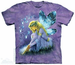 The Mountain Purple Winged Fairy Angel Fantasy T Shirt Sm 5X New $24.95