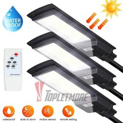 990000LM Solar Street Light LED Commercial Dusk to Dawn Area Road Lamp IP67Pole