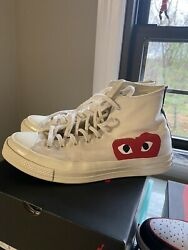 Converse Comme Des Garcons Play All Star Chuck #x27;70 CDG Multi Heart High Size 11 $99.99
