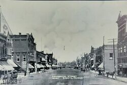 Vintage 1900s RPPC COMMERCIAL STREET Horse amp; Carriages Downtown Emporia Kansas