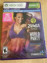 Brand New Zumba Fitness World Party for XBOX 360 Includes Free DVD Exclusive $17.05