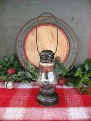 Small Antique Tin and Glass Skater#x27;s Lantern Free Shipping $78.00