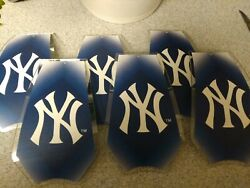 6 Glass Replacement Shades for Touch Me Lamps NEW YORK YANKEES New $28.99