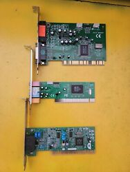 Lot Of 3 Pci Network Audio Cards $12.99