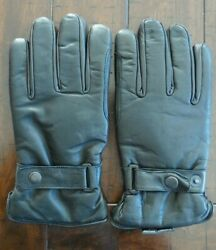 NEW Vtg 1980#x27;s Black Leather Driving Gloves Men#x27;s X LARGE Cycling Insulated $29.99