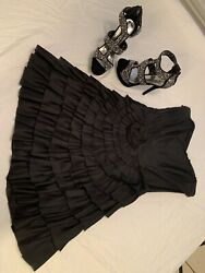 Cocktail Evening Dress Betsey Johnson Ruffled Short Sz 6 $99.00