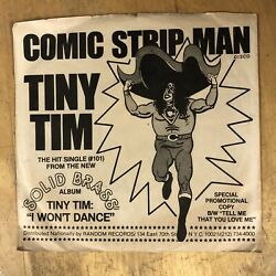 Tiny Tim Comic Strip Man Vinyl 7quot; 45 with Picture Sleeve $20.00