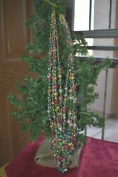 Antique Glass Beads Colored String Garland Christmas Ornament $60.00