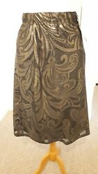 NWT Evans Live Unlimited Party Cocktail Christmas Gold Black Lace Skirt RRP £45 GBP 25.00