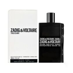 This is Him Zadig amp; Voltaire Men 3.3oz 100ml EDT Spray *NEW IN TESTER BOX* $49.98